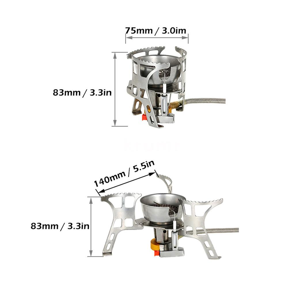 Outdoor Foldable Windproof Camping Piezo Ignition Gas Stove with Box UK T0V8